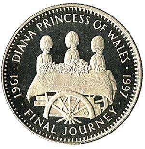 1997 Liberia $5 'Diana - Final Journey'