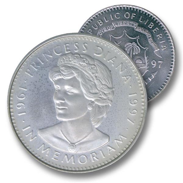 1997 Liberia $5 Princess Diana Memoriam