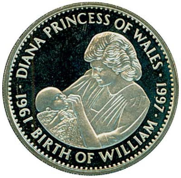 1997 Liberia $5 Birth of Prince William