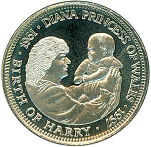 1997 Liberia $5 'Birth of Harry'