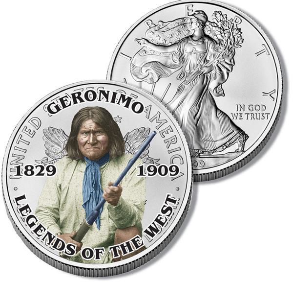 $1.00 Geronimo Silver Eagle