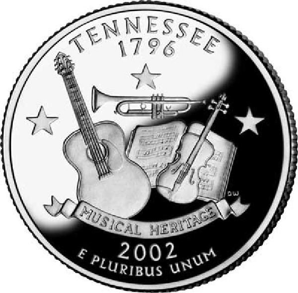 2002 Tennessee State Quarter, P mint