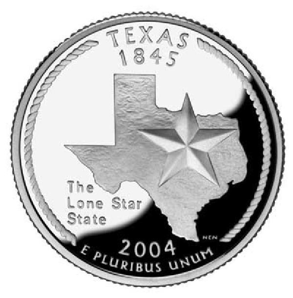 2004 Texas State Quarter, P mint