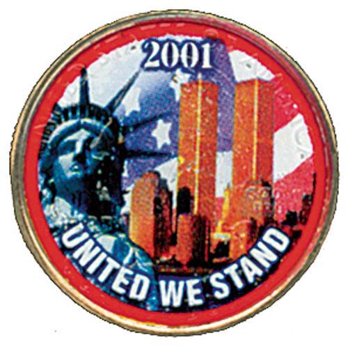 'United We Stand' Color-enhanced U.S. Quarter