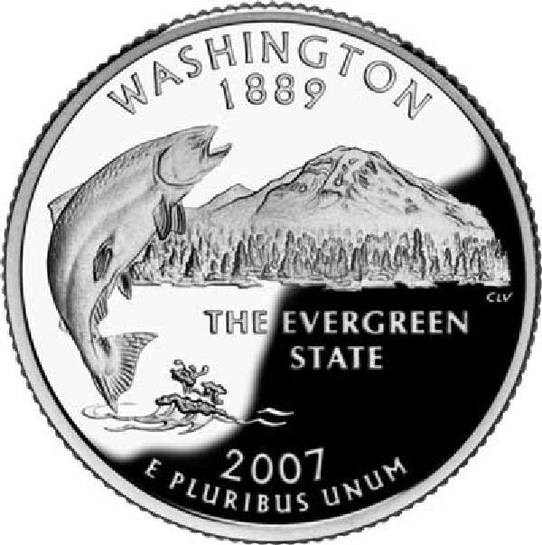 2007 Washington State Quarter, D Mint