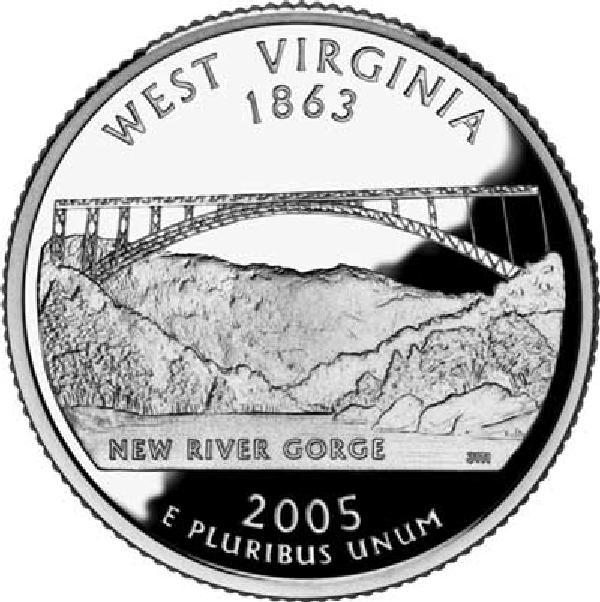 2005 West Virginia State Quarter, D Mint