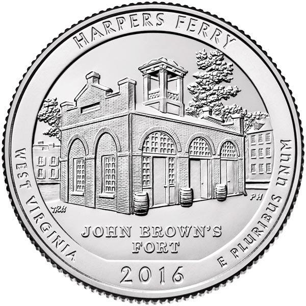 2016 Harpers Ferry Natl. Park P Mint qtr