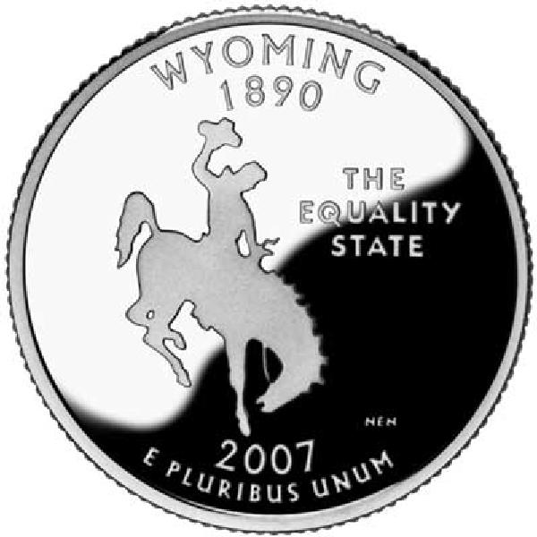 2007 Wyoming State Quarter, D Mint