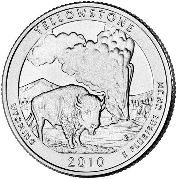 2010 Yellowstone National Park qtr. P Mi