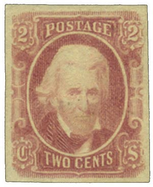 1863 2c Confederate States - Andrew Jackson - brown-red, soft paper, engraved (Archer & Daly)
