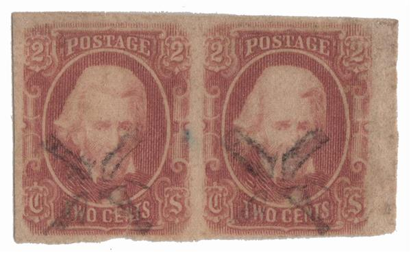 1863 2c Confederate States - Andrew Jackson - pale-red, soft paper (Archer & Daly)