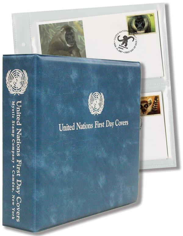 Mystic's United Nations First Day Cover Album, Light Blue