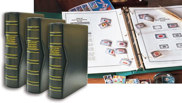 1847-Present 3 Volume Mystic's American Heirloom Album with Premium Binders and Slipcases