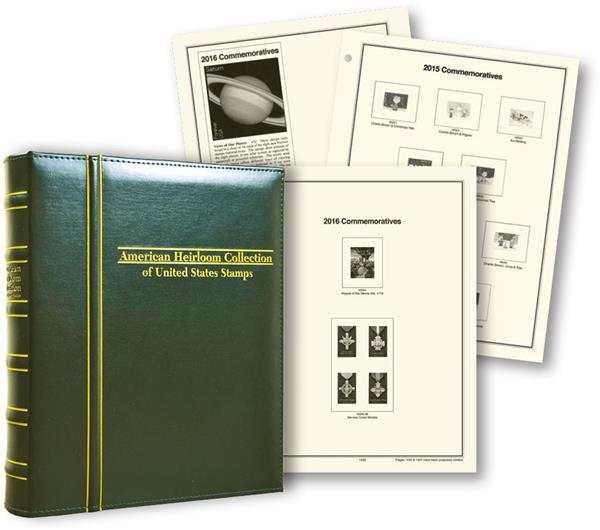 2015-18 Volume IX, Mystics Hingeless American Heirloom Album (includes premium binder without slipcase)