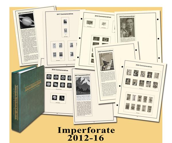 2012-16 Mystic's American Heirloom Imperforate Stamp Collection Album