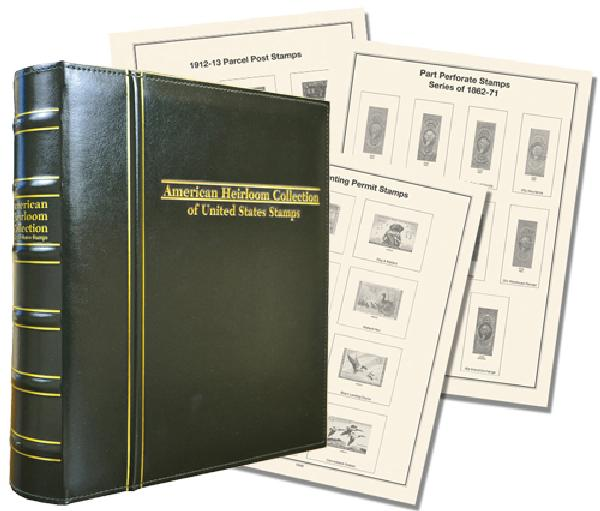 Volume I, Mystic's Premium American Heirloom Collection of United States Back-of-the-Book Stamps Album