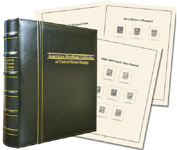 Volume II, Mystic's Premium American Heirloom Collection of US Back-of-the-Book Stamps Album, US Possessions