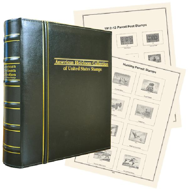 Volume I, Mystic's Hingeless American Heirloom Collection of United States Back-of-the-Book Stamps Album