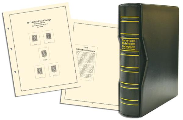 Volume I, Mystic's Premium American Heirloom United States Back-of-the-Book Stamps Album with Slipcase