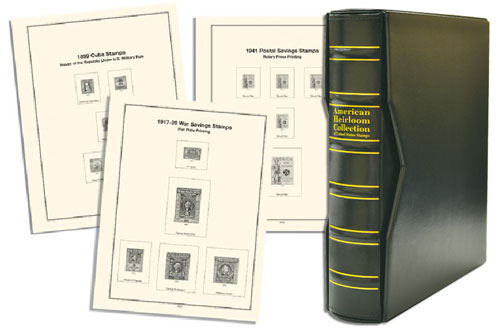 Volume II, Mystic's Premium American Heirloom US Back-of-the-Book Stamps Album-US Possessions, with Slipcase