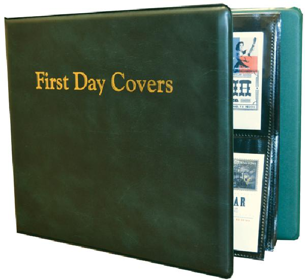 Mystic All Purpose First Day Cover Album 11 x 9 3/4 x 3' with 25 Black 2-Pocket Pages