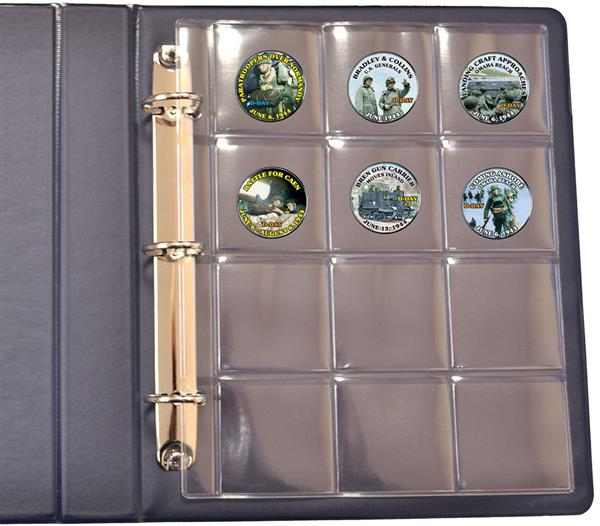 Mystic All Purpose Coin Album with 10 Clear 12-Pocket Pages