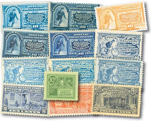 1885-1925 Special Delivery Stamps 13v