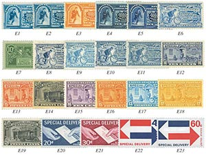 1885-1971 Special Delivery Complete Set of 23 Stamps