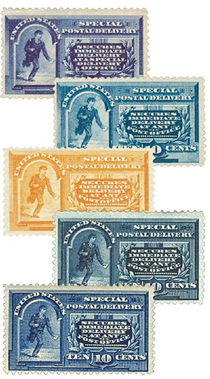 1885-95 Messenger Running Stamps