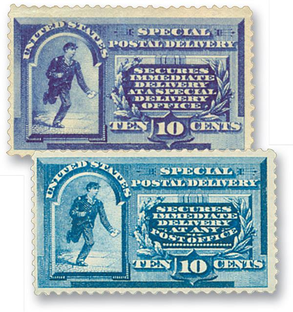1885-88 Special Delivery, Set of 2