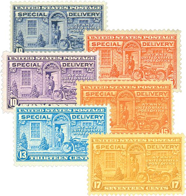 1922-44 Special Delivery, Set of 6