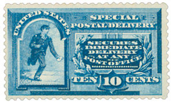 "U.S. #E2 – While it looks similar, this stamp has slightly different wording, stating that it ""secures immediate delivery at any post office."""