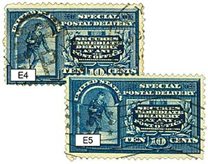 1894-95 10c Messenger Running set of 2