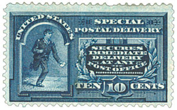 1894 10c Messenger w/line under 10c