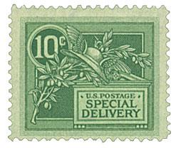 1908 DL Wmrk 10c green