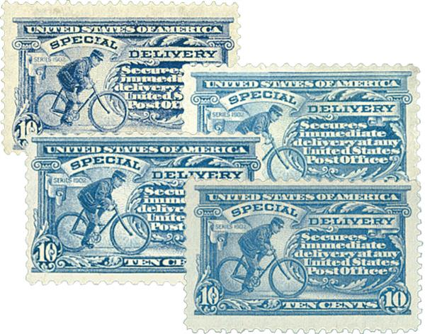 1911-17 Special Delivery, Set of 4