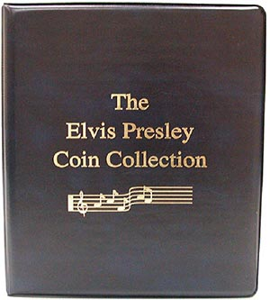 Mystic's Elvis Presley Coin Collection Binder, 3-Ring, 8 1/2 x 10