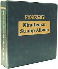 Scott Minuteman Collection Binder, 3-Ring, 11 1/4 x 11 1/2