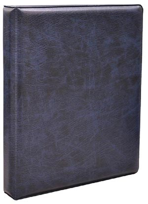 "3-Ring Coin Binder, Navy (8.5""x10""x1.5"")"