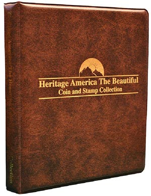 The America The Beautiful Coin and Stamp Collection Binder