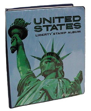 HE Harris US Liberty Collection Binder, 2-Post, 9 1/2 x 12