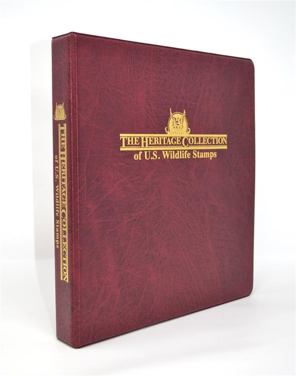 The Heritage Wildlife US Stamp Collection Binder