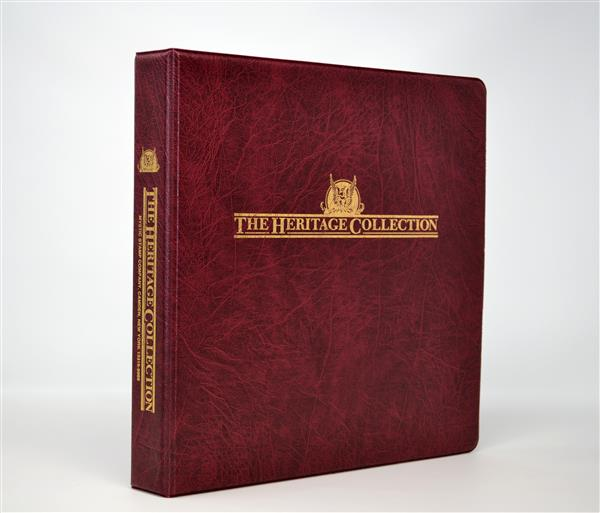 Mystic's Heritage Collection 3-Ring Binder, Burgundy, 11 x 11½, (narrow spine)