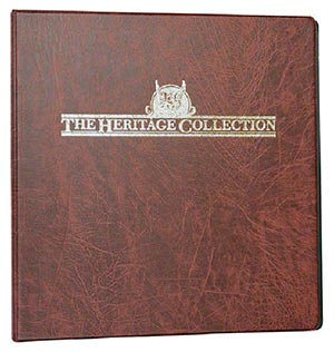 Mystic's Heritage Collection 3-Ring Binder, Burgundy, 11 x 11½