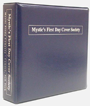 Mystic's First Day Cover Collection Binder, Blue, 3-Ring
