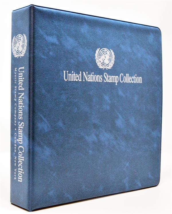 United Nations Stamp Collection Binder, 3-Ring 11' x 11 1/2'
