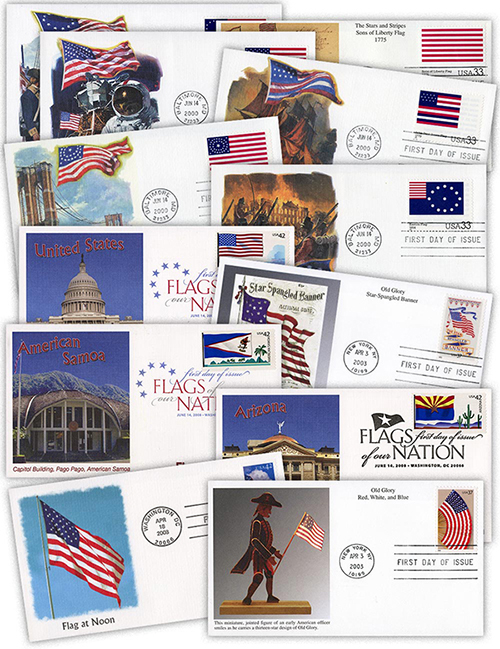 69 Different 2000-2008 Flag First Day Covers