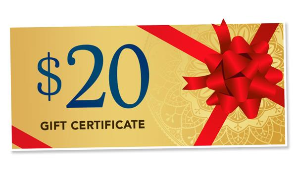 $20 Mystic Gift Certificate