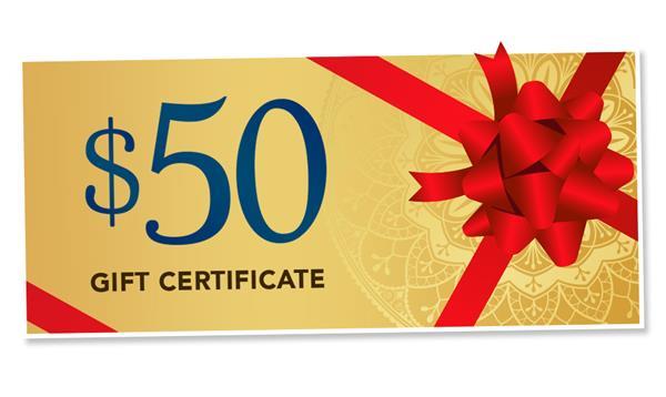 $50 Mystic Gift Certificate
