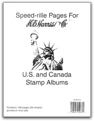 HE Harris US & Canada Blank Album Pages, Package of 64